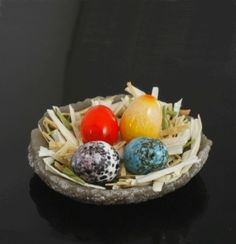 A collection of Easter egg miniature.
