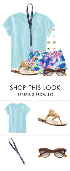"""""""What is your favorite food?"""" by flroasburn ❤ liked on Polyvore featuring Vineyard Vines, Jack Rogers, H&M and Forever 21"""