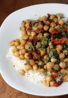 lemony chickpea and oven dried tomato stew