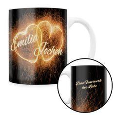 Ist Deine Liebe zum Partner so groß und romantisch wie ein Feuerwerk? #Tasse #Geschenkidee