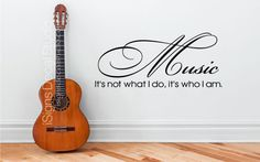 MUSIC WALL DECAL   Music Its Not What I Do by iSignsDecalStudio