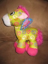 "GREEN HORSE Brand New Plush NWT Stuffed Animal NEW with Tags 11"" Sugar Loaf Toy"