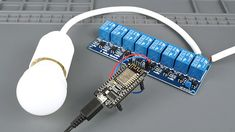 Learn how to use Relay Module with NodeMCU to control AC household appliances using Arduino IDE. You'll also build a web server to control your devices remotely. Arduino Led, Circuit Board Design, Small Computer, Computer Engineering, High Voltage, Appliances, Nerd, Tutorials, Random