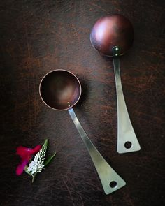 Hand forged stainless & copper, pinned with brass rivets - the new sister to the brass & copper Coffee Scoop. Début at the Maine Crafts Guild craft show in Bar Harbor this coming weekend...come see and say hello in beautiful Mount Desert Island!