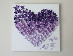 Arte de la pared de la mariposa  púrpura Ombre mariposa pared