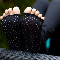 Toezies yoga socks with little grips so you don't slip