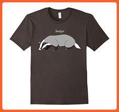 Mens Badger animal lover T-shirt XL Asphalt - Animal shirts (*Partner-Link)