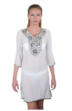 Silk Georgette Starry Night Tunic Dress