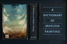 New work (oil on books as canvas) by the artis Olaf Bisschoff.