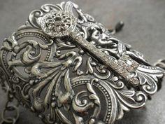 victorian key cuff bracelet