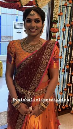 Kids Blouse Designs, Blouse Designs Silk, Saree Blouse Patterns, Bridal Blouse Designs, Half Saree Lehenga, Half Saree Designs, Indian Outfits, Indian Fashion, Clothes For Women