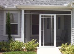 Screened front entry