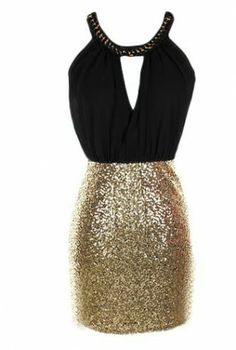 black & gold sequin dress #homecoming #sequins #bodycon