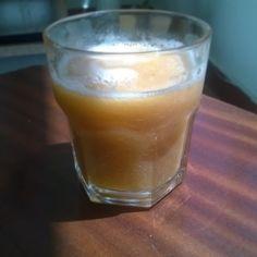 Apple, pear and peach juice  very healty #nosugar #fruitjuice #healtydrink #healtyfood