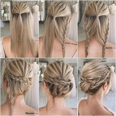 Diy hairstyles 214272894758621029 - We always get much inspiration from DIY wedding ideas and today in this post we will get into wedding hairstyles. No matter your hair is long or short, your Source by nanaclapper Wedding Hairstyles Tutorial, Braided Hairstyles, Hairstyle Tutorials, Layered Hairstyles, Makeup Tutorials, Bun Tutorials, Stylish Hairstyles, Hairstyles 2018, Braided Updo