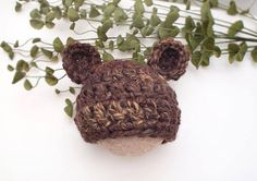 Newborn Size Bear Ear hat bonnet brown newborn photography Bear Ears, Newborn Photography Props, Herbs, Hat, Trending Outfits, Brown, Unique Jewelry, Handmade Gifts, Etsy