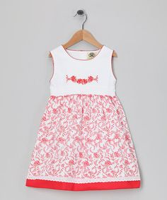 Take a look at this White & Red Rose Dress - Infant, Toddler & Girls by Tutu AND Lulu on #zulily today!
