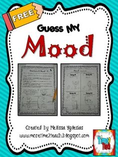 Mood: Guess My Mood {FREEBIE} Includes a music, art, and writing connection to engage and motivate students. Elementary School Counseling, Elementary Music, School Counselor, Too Cool For School, School Fun, School Stuff, School Ideas, Powerpoint Lesson, Common Core Curriculum