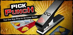 A Punch for Making Guitar Pics out of Used plastic Gift Cards, etc... SO CLEVER!!!