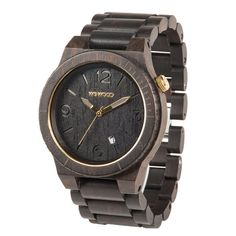 WeWOOD Alpha Black Gold | First only available in the USA, now exclusive at Kish,nl for The Netherlands! http://www.kish.nl/WeWOOD-horloge-Alpha-Black-Gold/