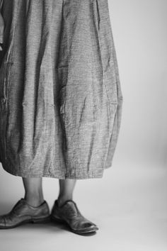 check cotton balloon skirt