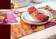 Thanksgiving Traditions: Heirloom Placemats, Free Spirit Artist Trio #3 | Sew4Home