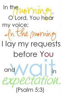 Waiting on the still small voice of the Lord...