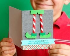 22 diy christmas cards that deliver more holiday cheer than store punny christmas cards solutioingenieria Choice Image