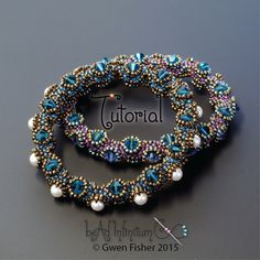 TUTORIAL Tentacle Bangle Bracelet Beaded with Honeycomb Weave by gwenbeads on Etsy https://www.etsy.com/uk/listing/241077024/tutorial-tentacle-bangle-bracelet-beaded