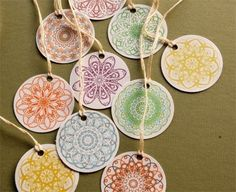 Spirograph gift tags