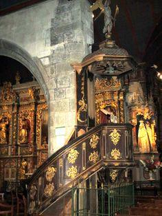 Le Faou : chaire de l'église Notre-Dame de Rumengol Brest, Brittany, France, Lds Art, Nun, Bretagne, French