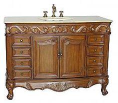"""48"""" Diana (DA-788) : Bathroom Vanity #vanities #HomeRemodel #BathroomRemodel #BlondyBathHome #Freestanding"""