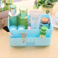 1PC LONGMING HOME Hot Sale Multi-function Plastic Makeup Cosmetic Storage Box Container Case Organizer LF 039