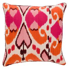 Hot Pink & Orange Mor Ikat Pillow Madeline Weinrib