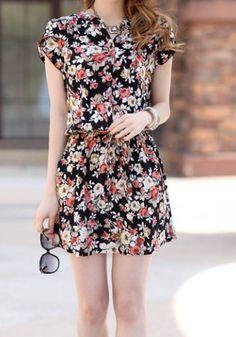 Black Floral Summer Dress