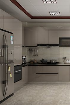 Acrylic kitchen offers an incredible, mirror-like style and panache to your cooking space. Simple Kitchen Design, Kitchen Room Design, Kitchen Layout, Interior Design Kitchen, Kitchen Decor, Kitchen Modular, Modern Kitchen Cabinets, Kitchen Cupboard Designs, Cuisines Design