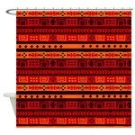 Geometric Orange Tribal Design Shower Curtain $51.95 #cafepress