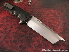 Jason Clark - Tanto Flipper - Fort Henry Custom KnivesFort Henry Custom Knives