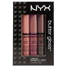 NYX Butter Gloss Lip Gift Set Creme Brulee - 3pc
