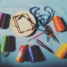 Preparing new crocheting project