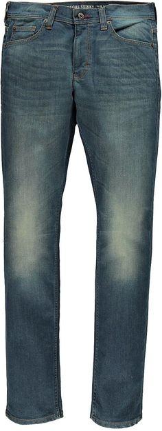Schmal geschnittene Jeans, mittlere Leibhöhe und im Beinverlauf eingestellt. Sie hat aufgesetzte Gesäßtaschen und einen Reißverschluss. Die Jeans hat schöne, authentische Used-Effekte. 92 % Baumwolle, 6 % Polyester, 2 % Elasthan....