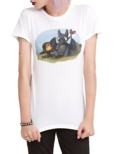 Cute, lol How To Train Your Dragon 2 Little Toothless Girls T-Shirt