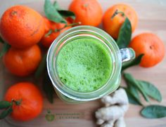 Kale, orange & ginger smoothie