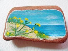 Dandelions by the sea Hand painted art by Alienstoatdesigns, $12.00