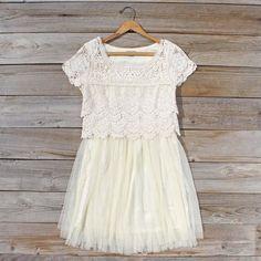 A sweet lace bohemian dress...