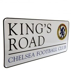 By attaching this retro Kings Road street sign to any flat service everyone will know they're entering the home of a Chelsea FC supporter. FREE DELIVERY on all of our football gifts