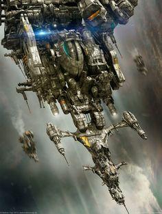 """D.S.E. Aurora X - The Downfall"" by Markus Vogt | #SciFi #Spaceship"