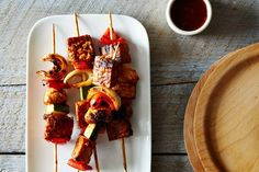 Tempeh Kebabs with Homemade Barbecue Sauce recipe on Food52