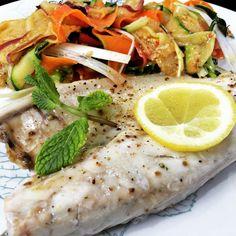 Dorada al vapor con Ensalada de Frutas y Verduras al Vapor con una vinagreta de Naranja y Jengibre #thermomix #spanishcookvideo #pescado #comprarthermomix #cocinandoconnancyballesteros #verduras #ensalada #nancyballesteros