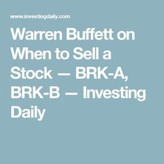 Brk A Stock Quote Enchanting How To Buy & Sell Stocks For Beginners  Sapling  Budget